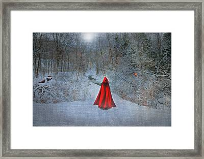 Little Red Girl Framed Print by Mary Timman