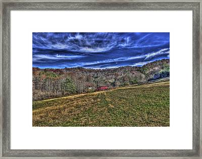 Little Red Hay Loft Framed Print