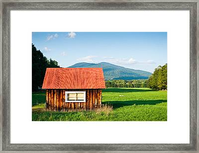 Little Red House Framed Print by Lee Costa