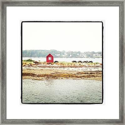 Little Red Hut Framed Print