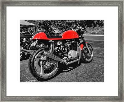 Little Red Racer 001 Framed Print by Lance Vaughn