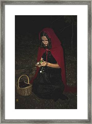 Little Red Riding Hood Framed Print by Cherie Haines
