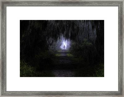Little Red Riding Hood Dark Passage Framed Print by Jay Droggitis
