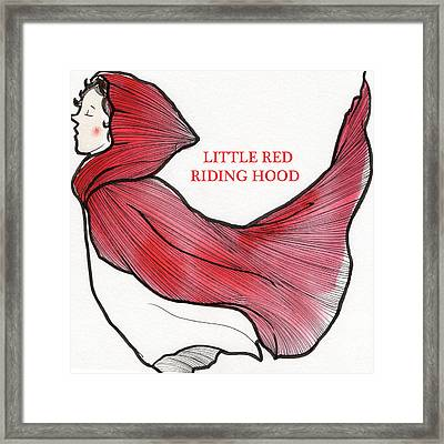 Little Red Riding Hood Framed Print by Donghyun Kim