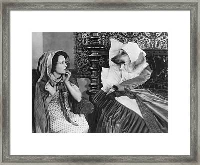 little Red Riding Hood Framed Print by Underwood Archives