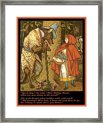 Little Red Riding Hood  Framed Print by Walter Crane