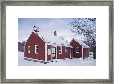 Little Red School House Framed Print by Alana Ranney