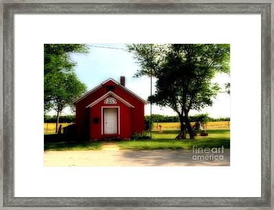 Little Red School House Framed Print by Kathleen Struckle