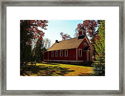 Little Red School House Framed Print by Ms Judi