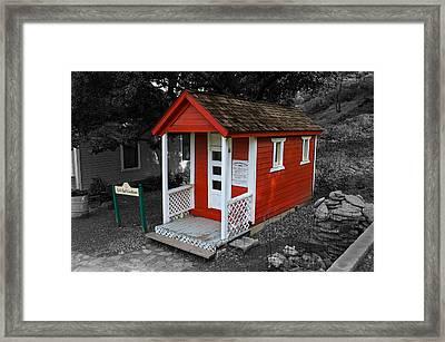 Little Red School House Framed Print