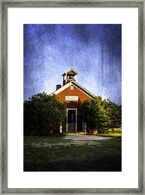 Little Red Schoolhouse Framed Print by Judy Hall-Folde