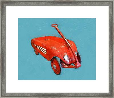 Little Red Wagon Framed Print by Michelle Calkins