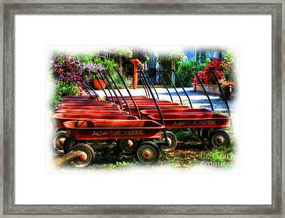 Little Red Wagons Framed Print by Mel Steinhauer