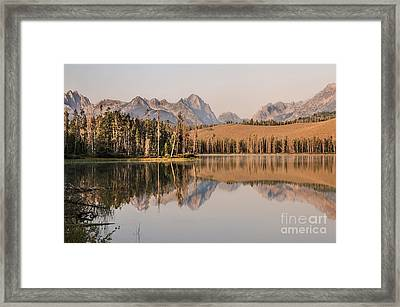 Little Redfish Lake Reflections Framed Print