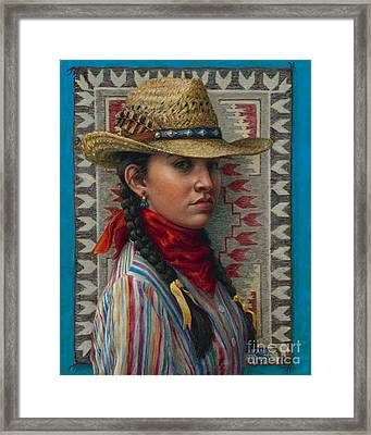 Framed Print featuring the painting Little Rising Hawk by Jane Bucci