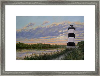 Framed Print featuring the painting Little River Light 2 by Kathleen McDermott