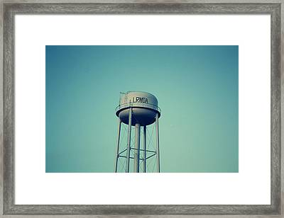 Little River Water Tower Framed Print by KayeCee Spain
