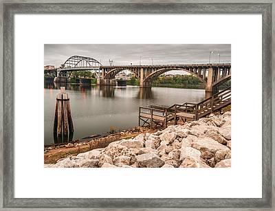 Little Rock Arkansas River Bridge Framed Print