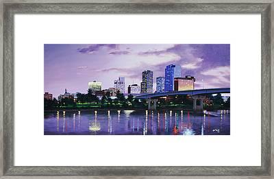 Little Rock Skyline Framed Print