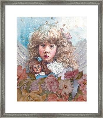 Little Rose Angel Framed Print