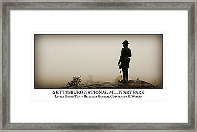 Little Round Top -- Poster Framed Print by Stephen Stookey