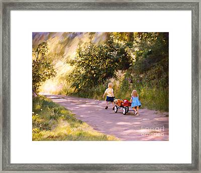 Little Run Aways Framed Print
