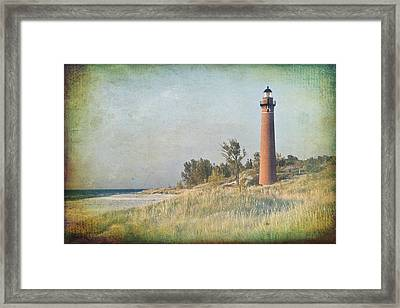 Little Sable Lighthouse Framed Print by Leo Cumings