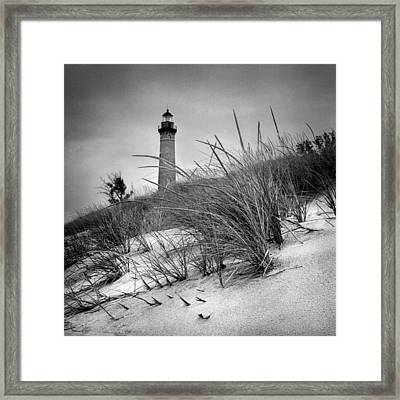Little Sable Point Lighthouse II Framed Print by Jeff Burton