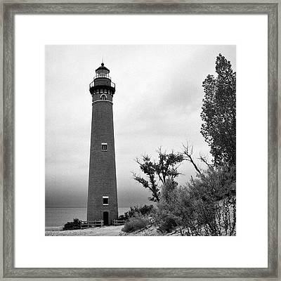 Little Sable Point Lighthouse IIi Framed Print by Jeff Burton