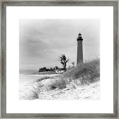 Little Sable Point Lighthouse Framed Print by Jeff Burton
