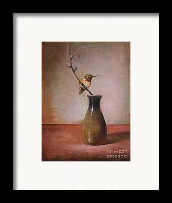 Sake Bottle Paintings Framed Prints