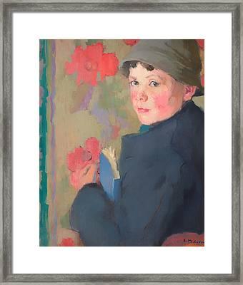 Little Schoolboy Of Bonmahon Framed Print