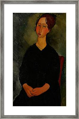 Little Servant Girl Framed Print by Amedeo Modigliani