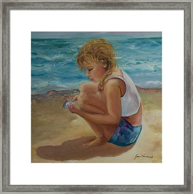 Little Shell Collector Framed Print by Jane Woodward
