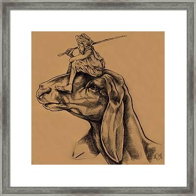 Little Shepherd Framed Print by Derrick Higgins