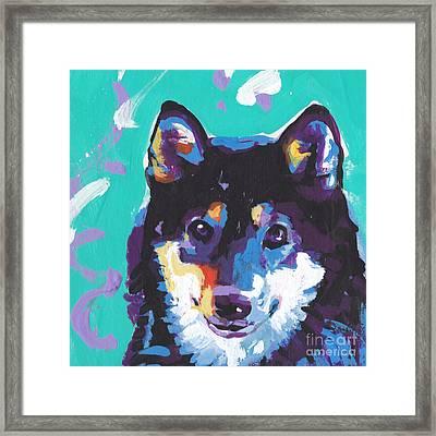 Little Shiba Framed Print by Lea S