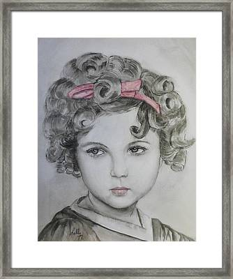 Little Shirley Temple Framed Print