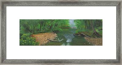 Little Shoal Creek Framed Print by Garry McMichael