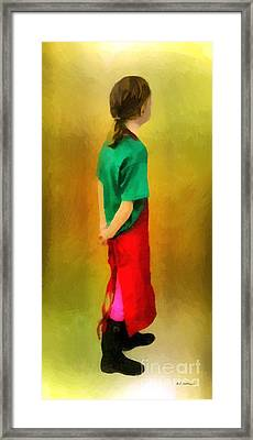 Little Shopgirl Framed Print