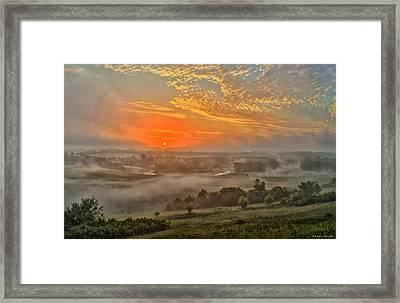 Little Sioux River Valley Sunrise Framed Print by Bruce Morrison
