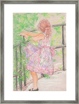 Little Sister Framed Print by Kathy Keith