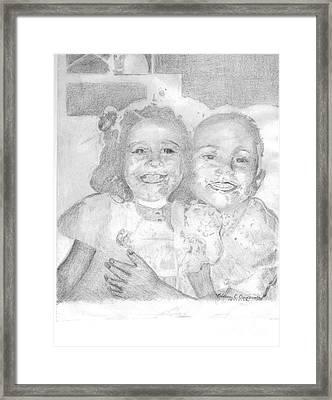 Little Sister Framed Print by Rebecca Christine Cardenas