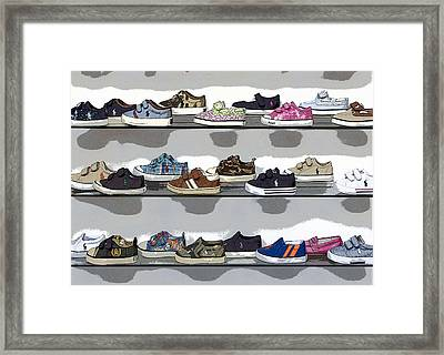 Little Sneakers Framed Print