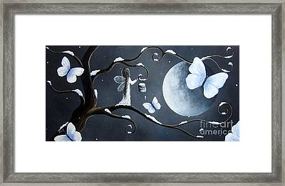 Little Snow Fairy By Shawna Erback Framed Print by Shawna Erback