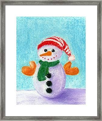 Little Snowman Framed Print by Anastasiya Malakhova