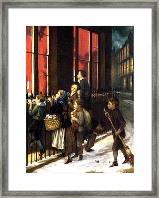 Little Spies Framed Print by Augustus Edwin Mulready