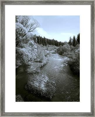 Little Spokane River Beauty Framed Print by Daniel Hagerman
