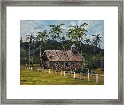 Little Stone Church Framed Print by Darice Machel McGuire