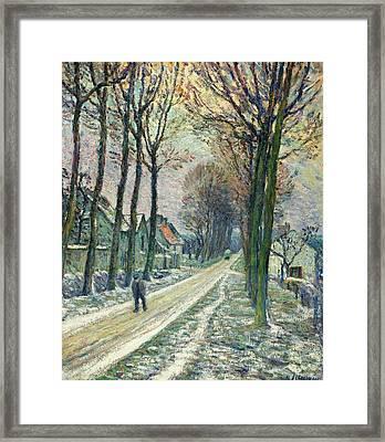 Little Street At Chessy Framed Print by Henri Lebasque
