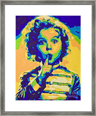 Little Technicolor Soldier Framed Print by Devan Gregori